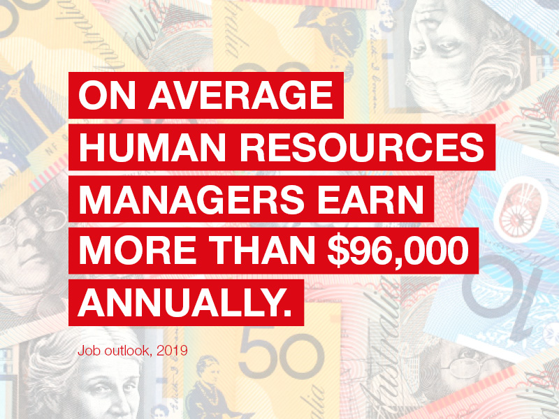 On average Human Resources Managers earn more than $90,000 annually