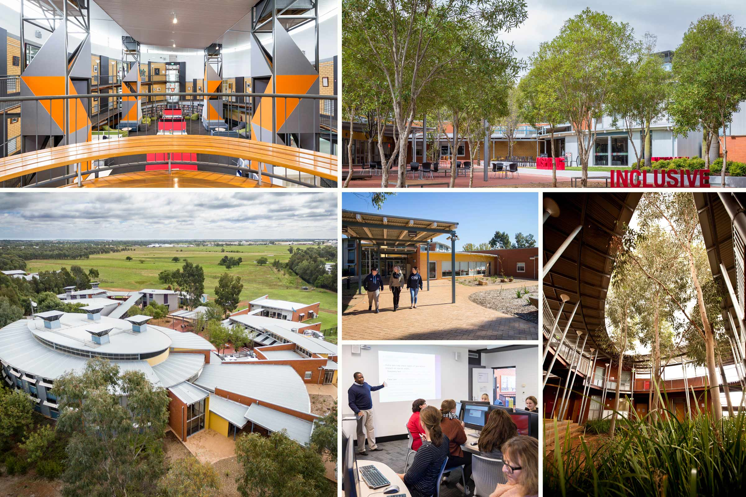 Charles Sturt University facilities collage of Dubbo