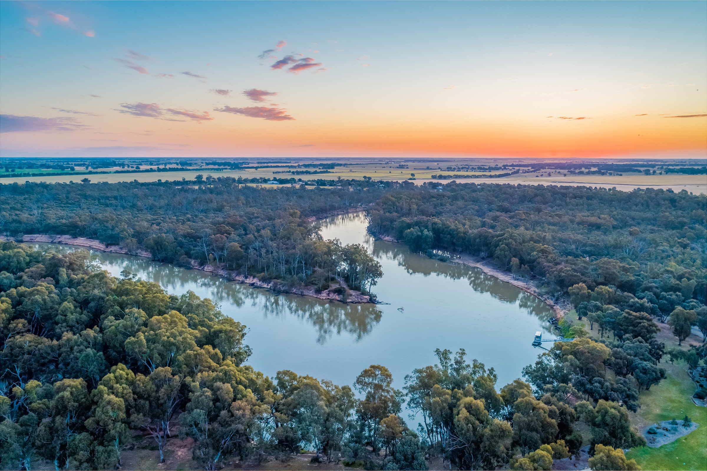 Ariel view of the Murray-Darling Basin