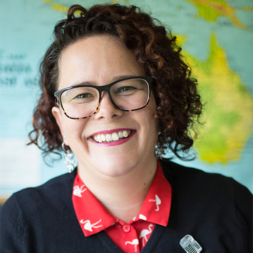 Head shot of a smiling Sally Turbitt who graduated with a Bachelor of Information Studies from Charles Sturt University.