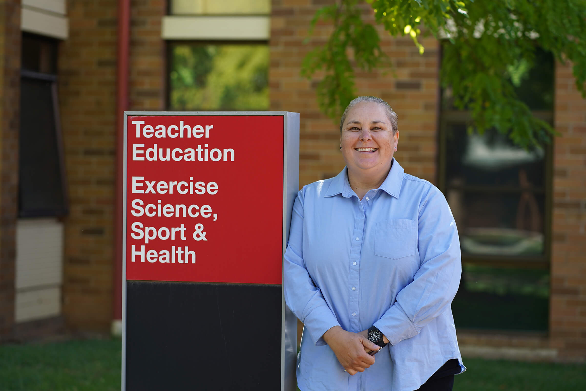 Charles Sturt University's Acting Head of School, School of Exercise Science, Sport and Health, Dr Chelsea Litchfield on Bathurst campus.