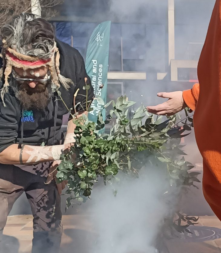 Indigenous smoking ceremony at Charles Sturt campus