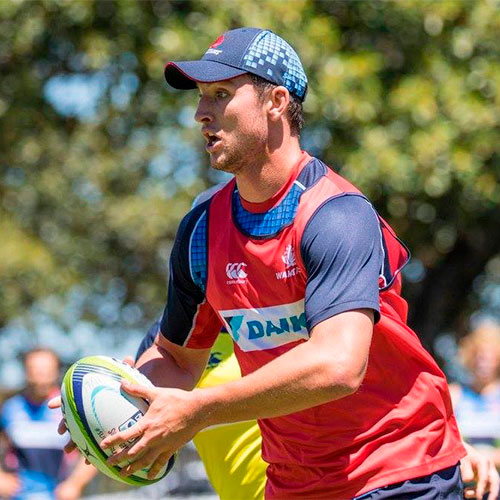 Ryan McCauley from the Waratahs playing rugby union