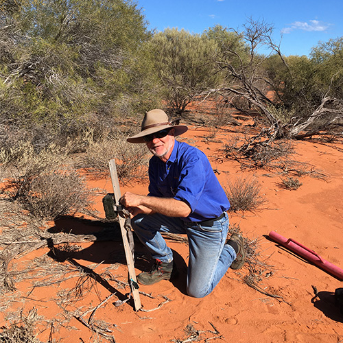 Dr. Richard McLellan doing research in the field